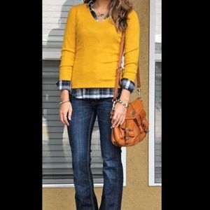 Yellow Ann Taylor V-neck Sweater