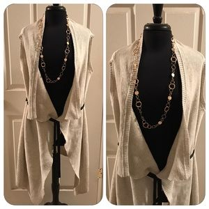 Simply Vera Sleeveless Cardigan NWOT