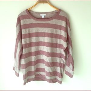 Garnet Hill size large striped sweater glitter ✨