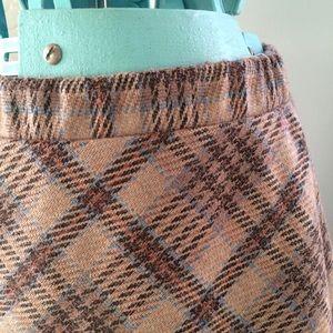 Vintage tan plaid skirt