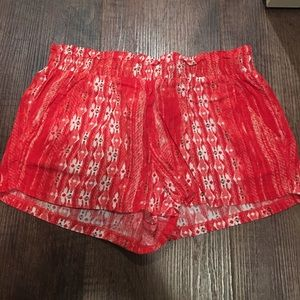 Mia Chica Pants - Rayon red shorts