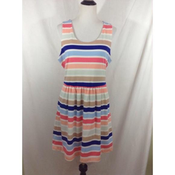 Maison Jules Dresses - MAISON JULES multicolor sleeveless striped dress