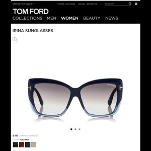 "Tom Ford Accessories - BRAND NEW Tom Ford ""IRINA"" Sunglasses"