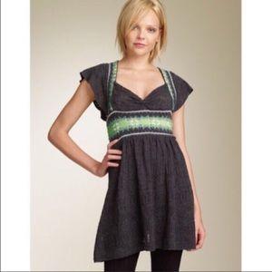 Free People Dresses & Skirts - Free People fair isle cap sleeve sweater dress