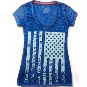 Fifth Sun Tops - Just in! American Flag Burnout