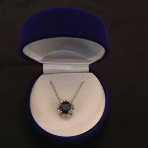 Jewelry - Sapphire 10k white gold necklace