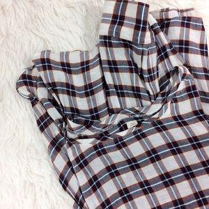 LOFT Tops - LOFT softened plaid semi-sheet long sleeve top