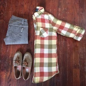 Timing Tops - Plaid Button Up by Timing
