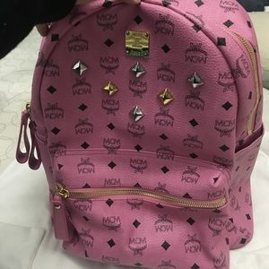MCM Handbags - MCM Pink Backpack