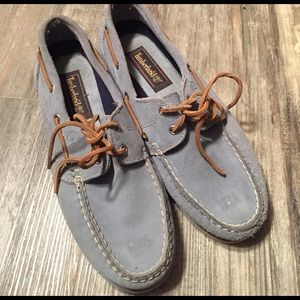 Timberland Shoes - Timberland Blue boat loafers sz 9