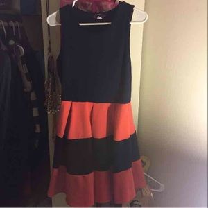 Myths Other - (Myth) Navy Blue & Peach Dress