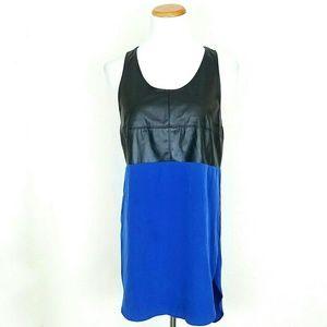 Chloe K Tops - Chloe K Cobalt Sleeveless Tunic w/ Faux Leather