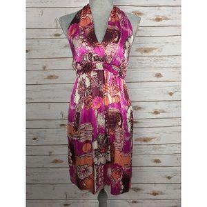 Hale Bob Dresses & Skirts - {Hale Bob} Silk Printed Halter V-Neck Dress, $332