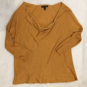 Eileen Fisher Tops - Eileen Fisher Mustard Brown Long Sleeve Top size M