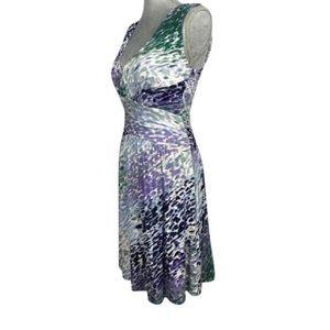 Three Dots Dresses & Skirts - {Three Dots} Sleeveless Ruched Jersey Knit Dress