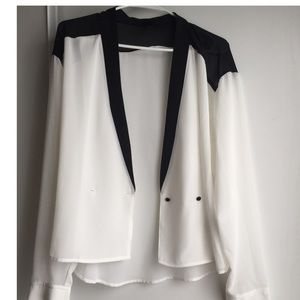 Massimo Alba Tops - Black and white blouse