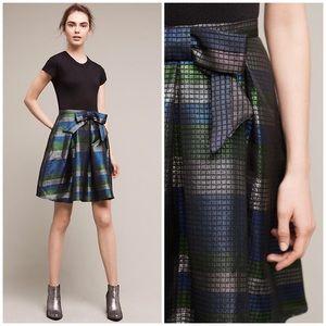 SZ 10 HP Anthro Gatinet Bowed Skirt