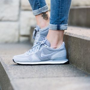Nike Grey Suede Internationalist Sneakers