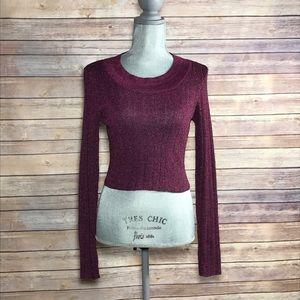 NWOT {Nasty Gal} Metallic Crop Sweater Top, $68.00