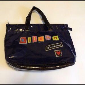 Kiton Handbags - Navy and black Kitson Los Angeles tote