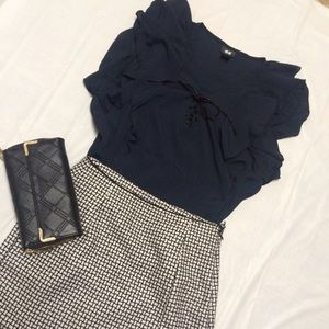 H&M Navy Blue Blouse