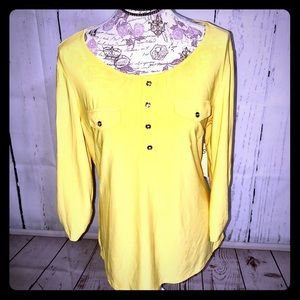 PerSeption Concept Tops - PERSEPTION CONCEPT Yellow Blouse