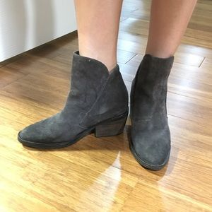 Dolce vita gray suede booties size 6
