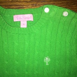 Lilly Pulitzer Other - Girl's Lilly Pulitzer cable sweater...Size 10