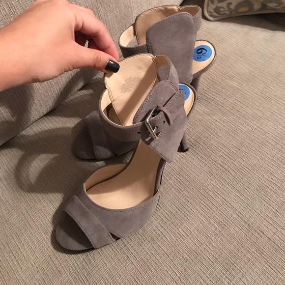 c39f3a780 Nine West Shoes | Brand New Adalina Grey Suede Heel | Poshmark