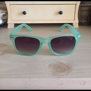 Charlotte Russe Accessories - Translucent Green Sunglasses