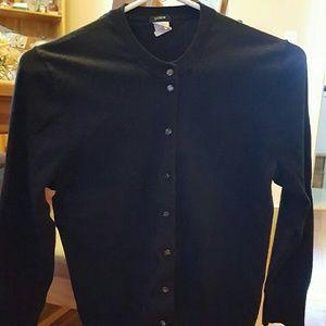 J Crew Black Cardigan Sweater