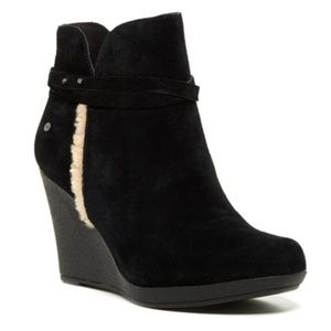 UGG Shoes - Only Today! Black suede wedge booties from UGG