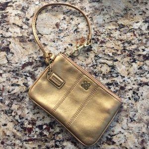 Coach Handbags - Coach Gold Wristlet