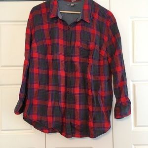 Lucky Brand Tops - Lightweight red long sleeve flannel