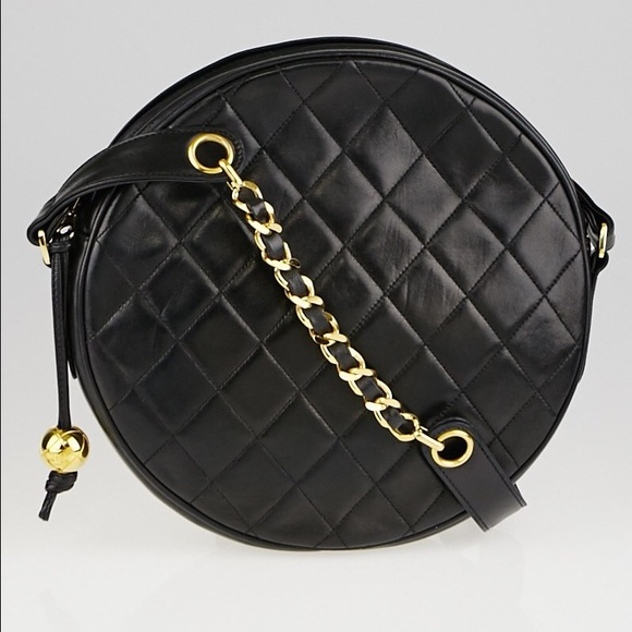 b5e903ce6939 CHANEL Handbags - Chanel Vintage Quilted Lambskin Leather Circle Bag