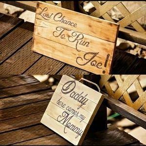 Other - Custom Wood Wedding Decor