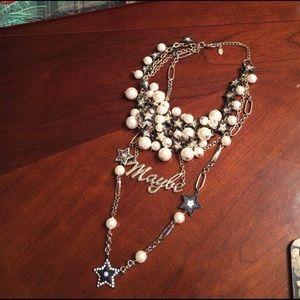 ZARA Jewelry - Zara necklace w/ faux pearls, lots of stars, etc