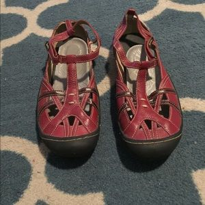 Jambu Shoes - Red Jambu hiking/active sandals