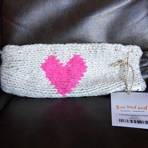 Knit headband with heart! 