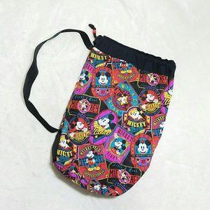 Disney Handbags - Vintage Mickey Mouse Drawstring Shoulder Bag