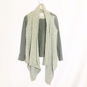 Anthropologie Sweaters - ANTHROPOLOGIE grey wrap knit cardigan