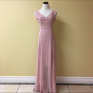 Charlotte Russe blush maxi dress