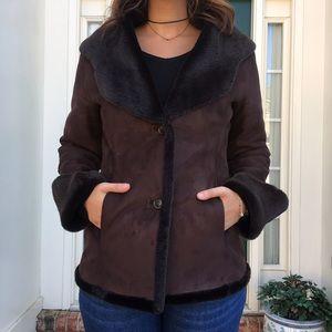 Calvin Klein Fur Lined Coat