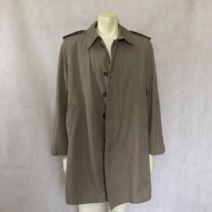 Lakeland Other - Men's Khaki Brown Trench Coat Lined Cotton Blend