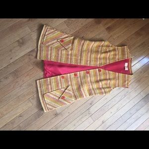vintage wool woven vest!