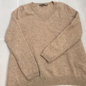 VINCE Wool & Cashmere V-neck Sweater from Saks