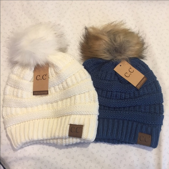 Accessories | 2x Cc Winter Hats With Pom | Poshmark
