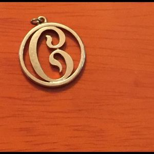 Jewelry - Sold Heavy 14kt Solid Gold Letter C Charm. 2.7g