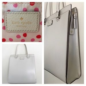kate spade Large Tote in Creamy White