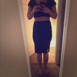 Express size XS black sheer pencil skirt